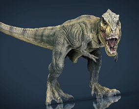Tyrannosaurus Rex 3D asset game-ready