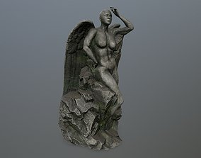 3D model game-ready woman statue 1