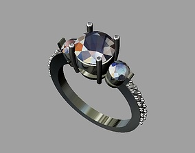 3D print model Diamond Engagement Ring ring