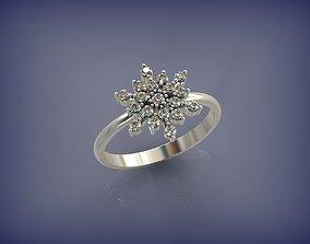 3D print model Snowflake Ring 01