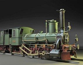 3D Steyerdorf Steam Locomotive Engine
