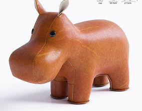 3D model Hippo Bookend