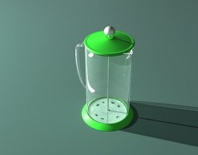 3D model animated reflection Teapot