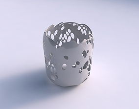 3D printable model Bowl cylindrical with bubbles holes