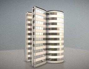 3D model PBR City Building Design-R1