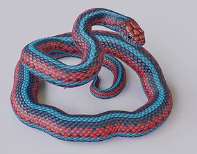 Rigged San Francisco Garter Snake 3D asset realtime