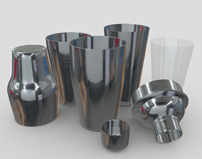 Cocktail Shaker Pack 3D model low-poly