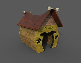 Cartoon dog house concept 3D model game-ready