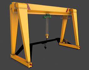 PBR Single Girder Gantry Crane V2 - 3D asset