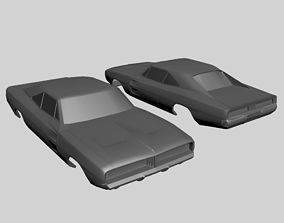vehicle Dodge Charger 1969 Body Model Printable