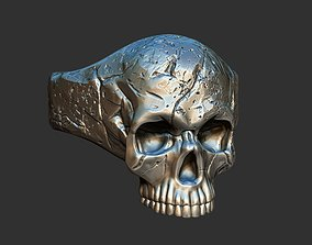 halloween Skull Ring 3D print model