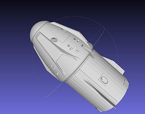Space-X Dragon 2 Spacecraft Simple Printable Model