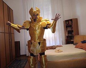 CUSTOM 3D PRINTED GOLD MITH CLOTH GEMINI