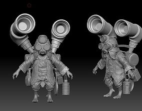 3D steampunk grandpa ZBrush Raw file