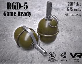 RGD 5 grenade Game ready 3D model