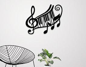 Music sign wall art 3D printable model