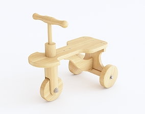 3D Wooden push bike toy