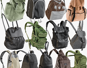 3D PBR Backpack Collection 2
