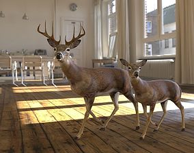 future-challenge 3D model deer animated