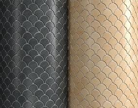 Materials 16- Fish scale tiles PBR 3D