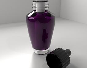 Air Freshener Bulb Unscrew Cap with Purple Liquid 3D