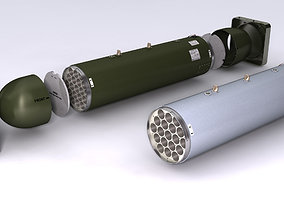 LAU-61 LAU-130 Rockert Launchers for Hydra 70 3D