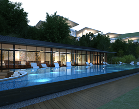 3D House with pool