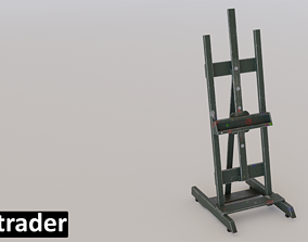Easel for Painting used with paint and wear 3D model