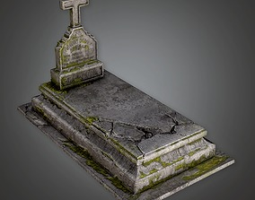 Stone Grave Cemetery 6 CEM - PBR Game Ready 3D model