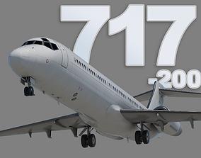 Boeing 717-200 3D asset