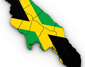 atlas 3d Political Map of Jamaica