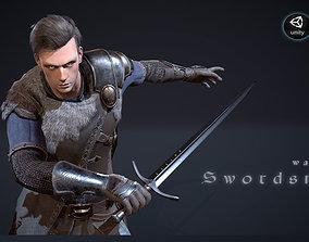 Warrior Swordsman 3D model animated