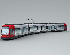 3D asset Lowpoly Tram 2