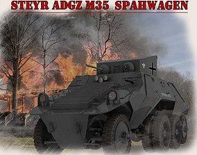 3D model Steyr Adgz Spahwagen M35
