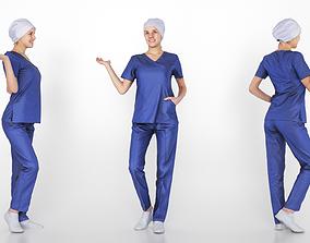 3D model Surgical nurse 04