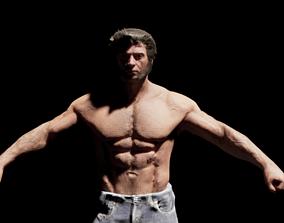 Hugh Jackman NOT RIGGED 3D asset VR / AR ready