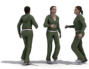 3D model Female Jogging Character