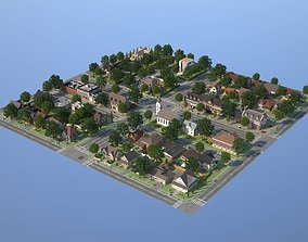 City Town KC10 3D model game-ready