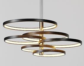 Hoopla Multi-Light LED Pendant 3D
