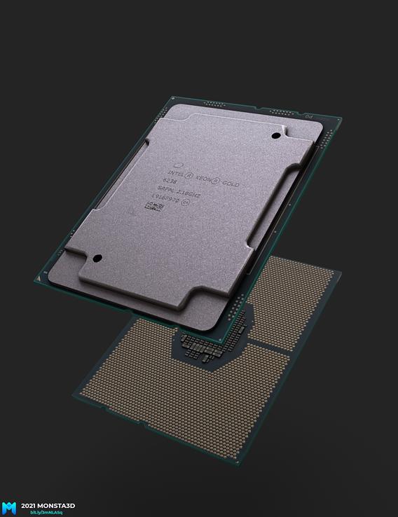 intel Xeon Gold cpu pbr game asset