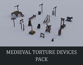Medieval Torture Devices pack 3D model