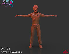 creature Zombie Timelapse And Model