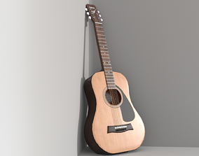 Classical Acoustic guitar Yamaha F310 6 strings 3D asset