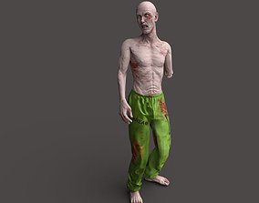 3D asset Zombie Rigged Biohazard