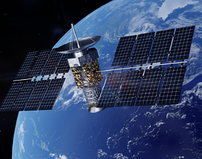 3D model space Satellite