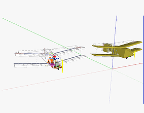 3D model AT UAS Unmanned aerial system