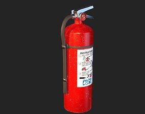 3D asset Fire Extinguisher Realistic