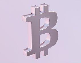 3D asset Bitcoin Logo