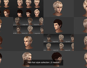3D man hair style collection