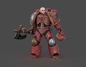 rigged Warhammer Marine Soldier Low-poly 3D model 02